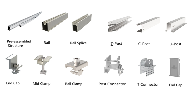 Pile mounting solutions components
