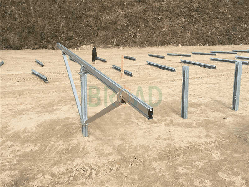 Piling solar ground mounting structure