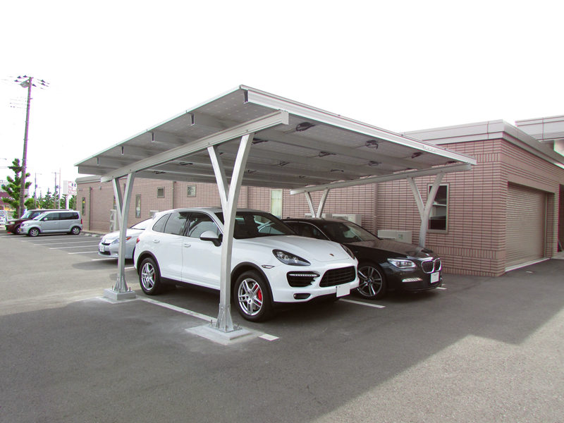 solar mounting structures for carports